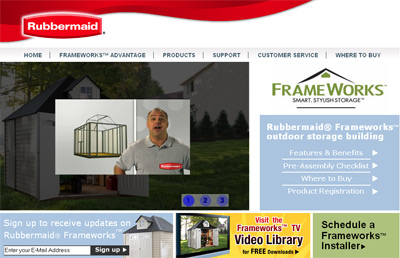 Rubbermaid Frameworks Marketing and Support Site