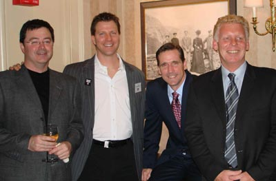 Sean Duffy of Sweden, Rich Wahl of Orlando, John Reisky also of Sweden and TAAN President Elect Peter Gerritson of Boston