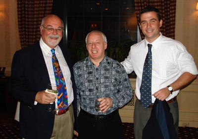 TAAN President Gary Lessner, Scotland's Alan Levy, Julio von Haezevelde from Argentina share a drink at the Saturday evening goodbye dinner.