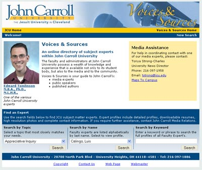John Carroll University's Voices & Sources