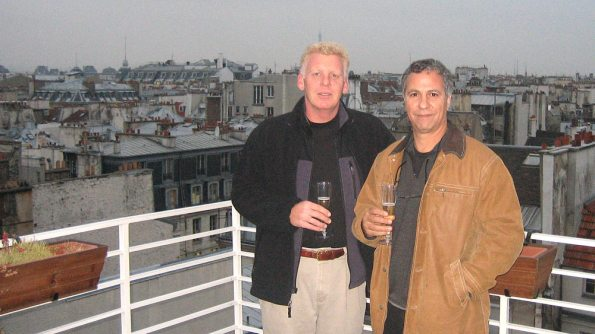 Peter Gerritsen, TAAN President, and Mark Vitullo at Mr. Joe's rooftop cocktail reception