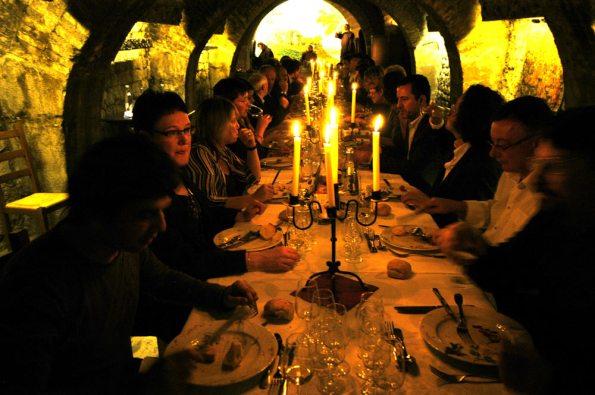Dinner at the Wine Museum, Paris