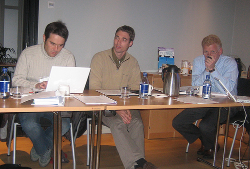 Donovan Hawker of Opinion Valley, Paris, Gregor Lof of X-Ingredient, The Netherlands and Peter Gerritsen, TAAN President during the TAAN Europe Meeting in Reykjavik, October 2008.
