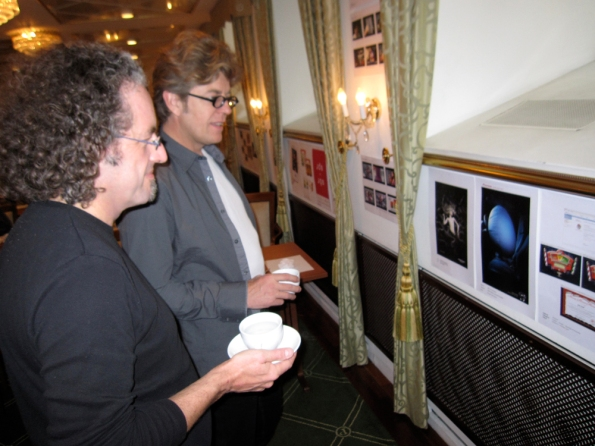 Michel Devos, Vandekerckhove & Devos -- Belgium, and Bruno du Teilleul, Mr. Joe - Paris, browse the short-listed TAAN Titan Award entries.