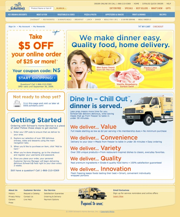 The promotion's landing page pays off the Banner Ad creative and reinforces the promotional message.